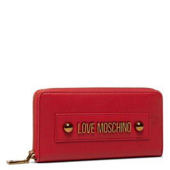 Portafoglio Donna Zip Around LOVE MOSCHINO con Logo Rosso