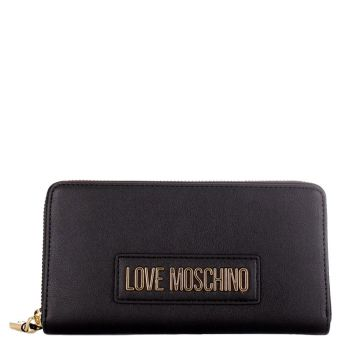Portafoglio Donna Zip Around LOVE MOSCHINO linea Lettering Love Nero
