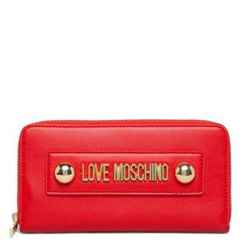 Portafoglio Donna Zip Around LOVE MOSCHINO linea Lettering Love Rosso