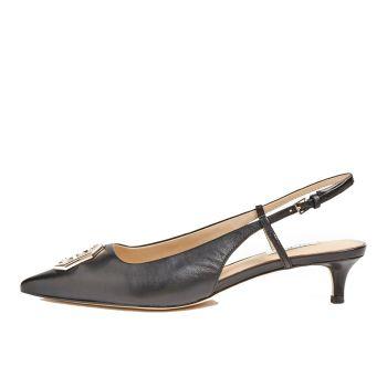 GUESS Jessena Line – Black Leather Sandals