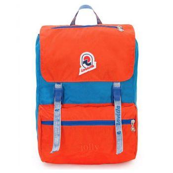 """Zaino Unisex Porta Pc 13"""" INVICTA Jolly Vintage colore Blu e Arancione"""