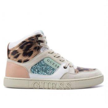 Scarpe Donna GUESS Sneakers Alta Linea Justis Colore White