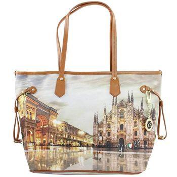 Borsa Donna Y NOT Shopping Grande a Spalla K-319 Milano Sunset