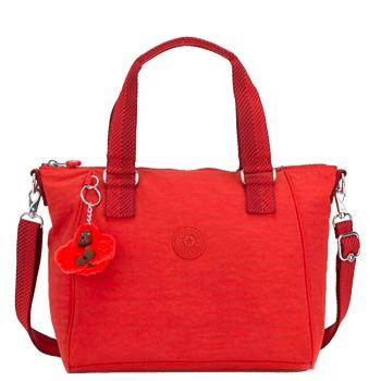 Borsa a Mano con Tracolla KIPLING Amiel Colore Active Red