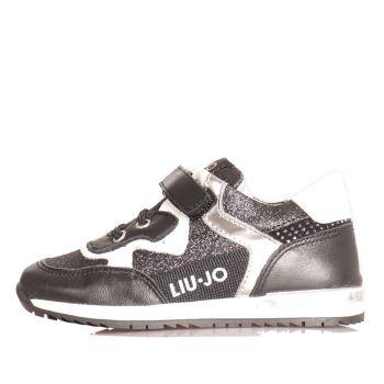 Scarpe Bambina LIU JO linea Mini Karlie 47 Sneakers Nere con Glitter