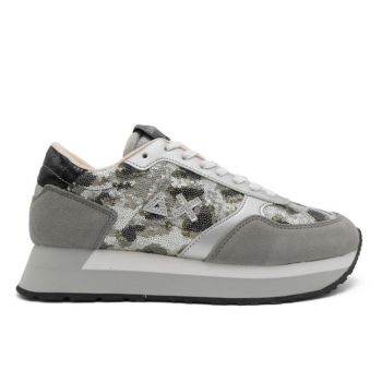 Scarpe Donna Sun68 Sneakers Kelly Paillettes Animal Grigio Scuro