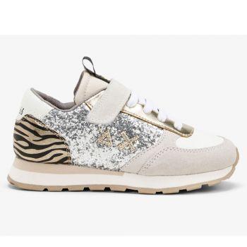 Scarpe Bambina SUN 68 Sneakers Girl's Kate Glitter Argento