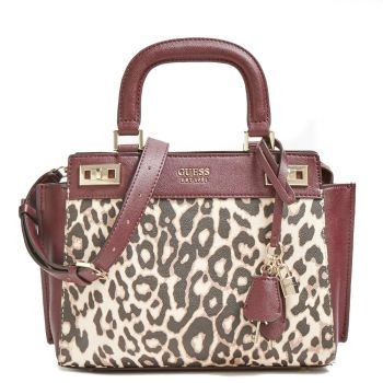 Borsa Donna a Mano GUESS linea Katey colore Leopard