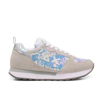 Scarpe Donna Sun68 Sneakers Kelly Paillettes Bianco