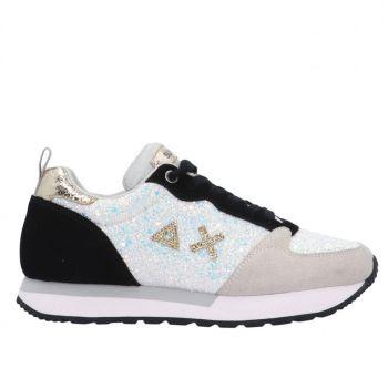 Scarpe Donna Sun68 Sneakers Kelly Glitter Bianco
