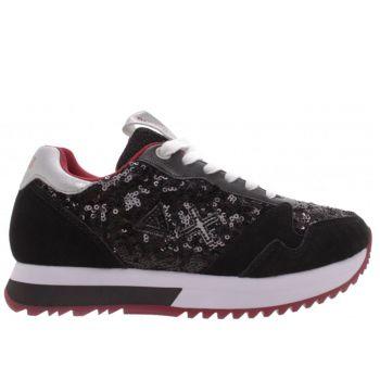 Scarpe Donna Sun68 Sneakers Kelly Solid Paillettes Nero