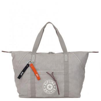 KIPLING Light Denim Fabric Woman Travel Bag Art M Line