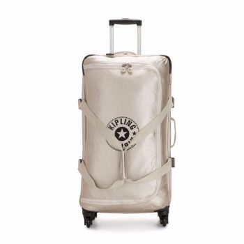 Trolley Grande 79cm Semirigido  Kipling Cyrah L colore Cloud Metal C