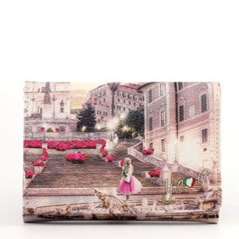 Y NOT L-346 Line – Pink Rome Printed Wallet for Women