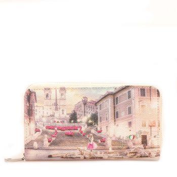 Portafoglio Donna con Bottone Y NOT L-372 Pink Rome