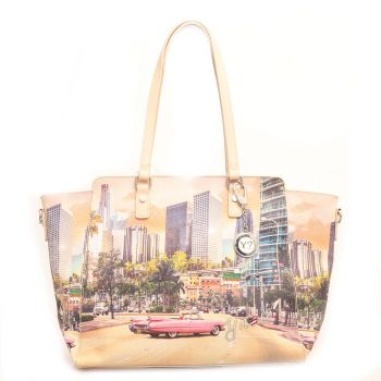 Borsa Donna Y NOT Shopping a Spalla con Tracolla YES-398 Miami
