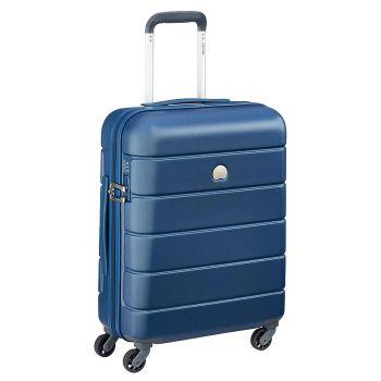 Trolley Cabina 4 Ruote 55 cm Rigido Leggero 2,5 kg - Delsey Lagos Blu