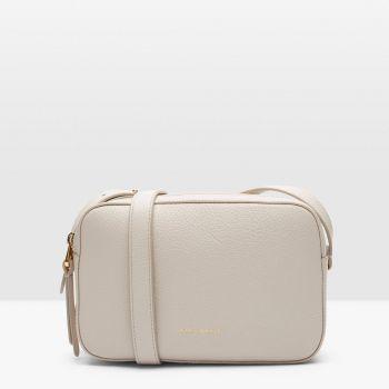 Borsa Donna a Tracolla Piccola COCCINELLE linea Lea in Pelle Colore Lambskin White