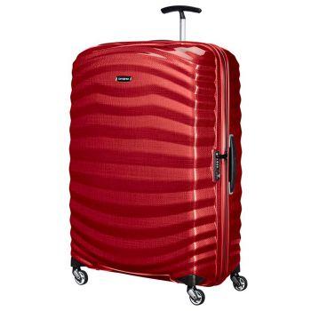 Trolley Grande 81cm 4 Ruote Rigido Leggero 2,8kg Samsonite Lite-Shock Red