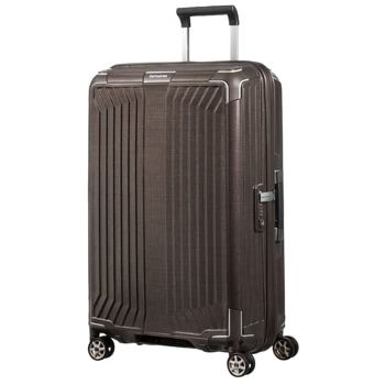 Trolley Medio 69cm 4 Ruote Rigido Leggero 2,8kg Samsonite Lite-Box Walnut