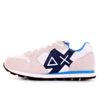 Scarpe Bambino SUN 68 Sneakers Boy's Tom Logo Patch Basic Bianco