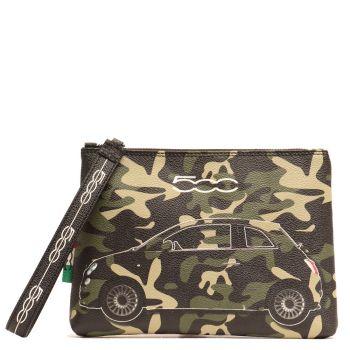 Pochette a Mano GABS Luanda M Stampa Camaleonti Verde Camouflage