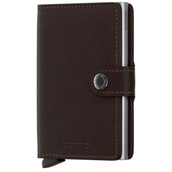 Porta Carte con Clip SECRID linea Original in Pelle Dark Brown con RFID