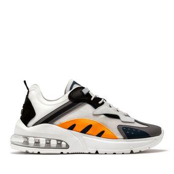 Scarpe Uomo D.A.T.E. Sneakers linea Aura Otter colore White Orange