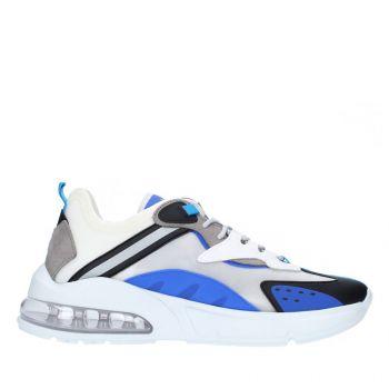 Scarpe Uomo D.A.T.E. Sneakers linea Aura Otter colore White Blue