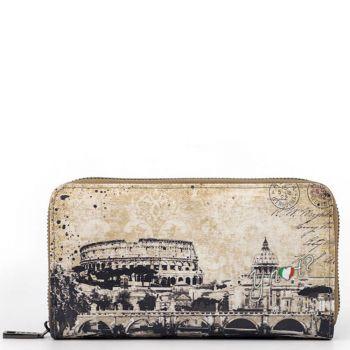Portafoglio Donna Y NOT linea Material City MAT-361 Roma - Chiusura Zip Around