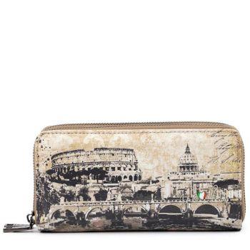 Portafoglio Donna con Doppia Zip Y NOT MAT-368 Roma