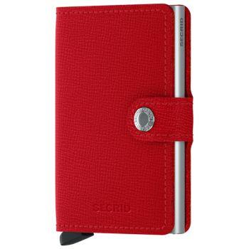 Porta Carte con Clip SECRID linea Crisple in Pelle Red con RFID