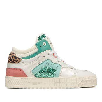 D.A.T.E. Meet Pop Line – Glitter Mint Sneakers for Women
