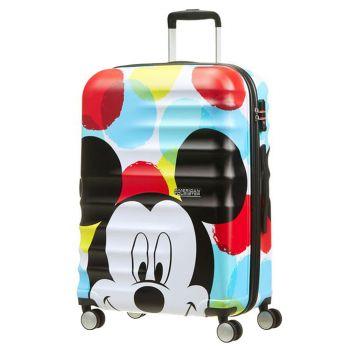 Trolley Grande 77cm 4 Ruote 4,2kg - American Tourister Disney Mickey Close-Up
