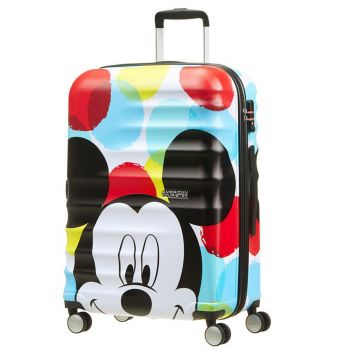 Trolley Medio 67cm 4 Ruote 3,6kg - American Tourister Disney Mickey Close-Up