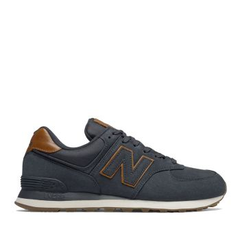 Scarpe Uomo NEW BALANCE Sneakers 574 in Nabuck colore Dark Navy