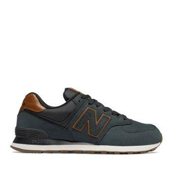 Scarpe Uomo NEW BALANCE Sneakers 574 in Nabuck colore Nero