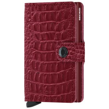Porta Carte con Clip SECRID linea Nile in Pelle Color Ruby con RFID