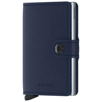 Porta Carte con Clip SECRID linea Original in Pelle Navy con RFID