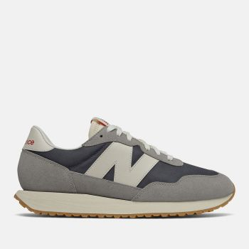 NEW BALANCE 237 Line – Marblehead Grey Suede and Nylon Sneakers for Men