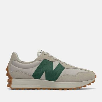 Scarpe Uomo NEW BALANCE Sneakers 327 in Suede e Nylon colore Timberwolf e Nightwatch Green