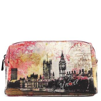 Beauty Grande con Zip Y NOT stampa Londra MAT-304