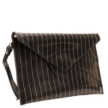 Pochette Donna GUM linea Multiprint  colore Nero con Righe Bianche