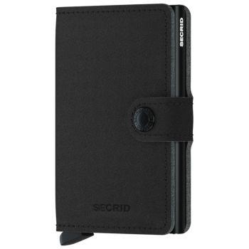 Porta Carte con Clip SECRID linea Yard in Microfibra Black con RFID