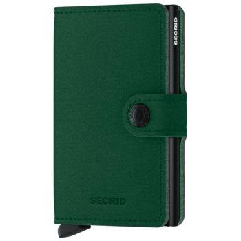 Porta Carte con Clip SECRID linea Yard in Microfibra Green con RFID