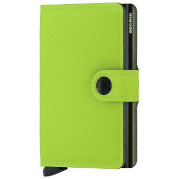 Porta Carte con Clip SECRID linea Yard in Microfibra Color Lime con RFID