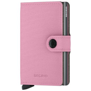 Porta Carte con Clip SECRID linea Yard in Microfibra Rose con RFID