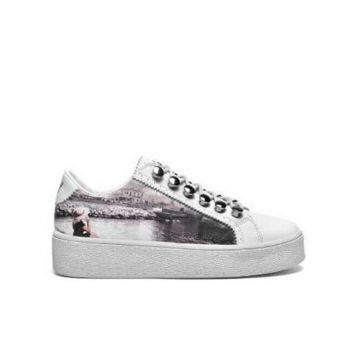 Scarpe Donna Y Not Sneakers Stampa Napoli Castel Linea Yes