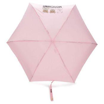 Ombrello Mini MOSCHINO Con Orso Portachiavi Colore Rosa