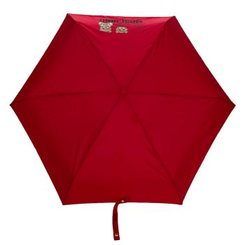 Ombrello Mini MOSCHINO Con Orso Portachiavi Colore Rosso